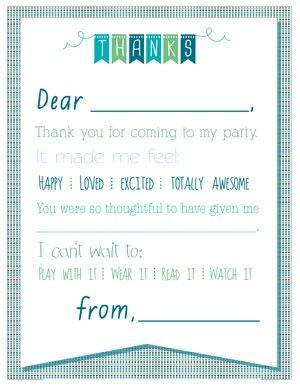 printable birthday thank you notes nora 3 pinterest note