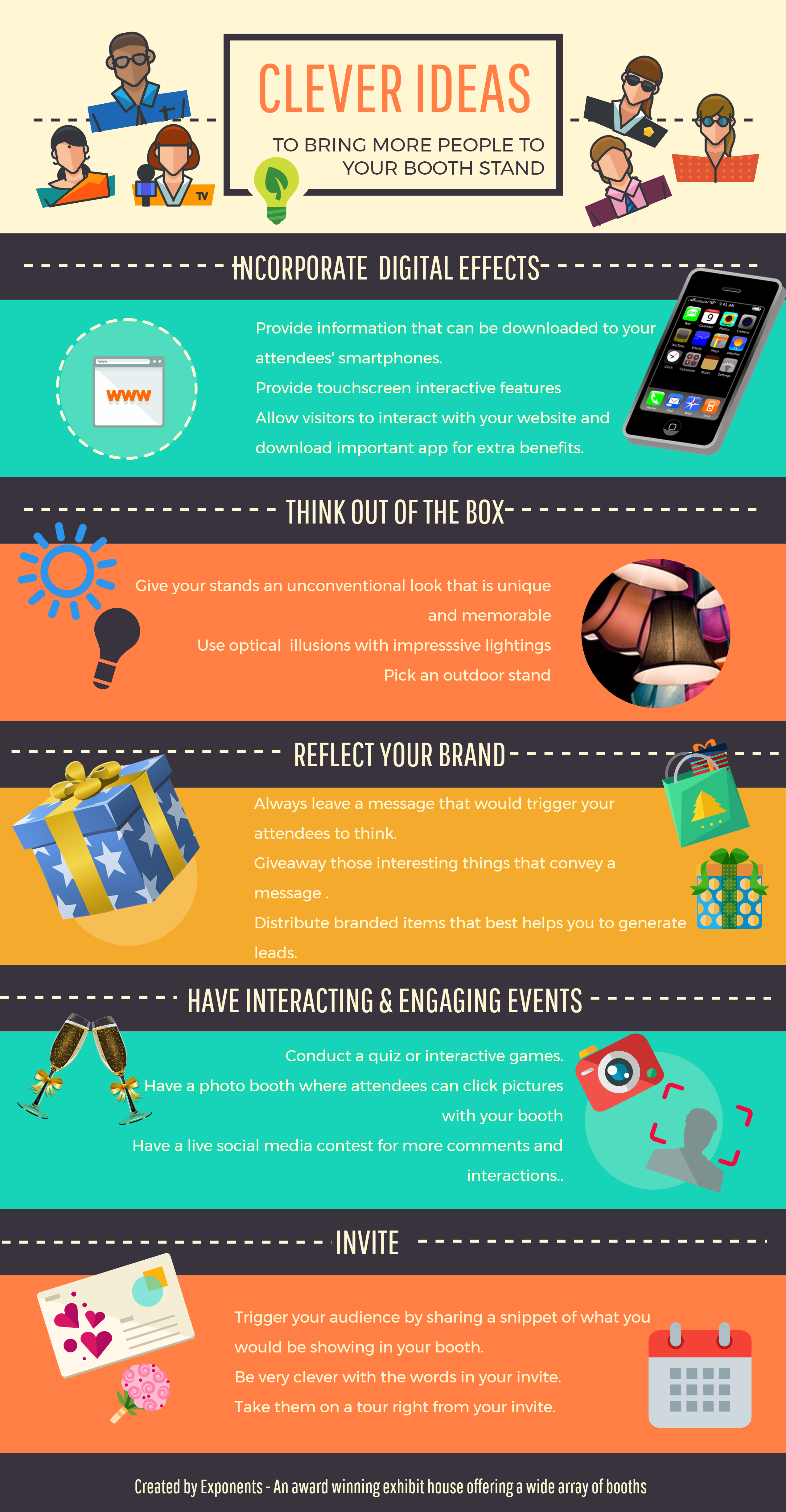 Exhibition Stand Checklist : Clever ideas to bring more people to your booth stand tradeshows