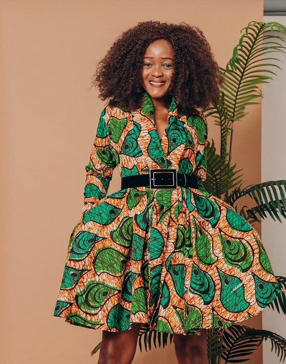 Ankara Dress African Clothing African Dress African Print Dress African Fashion Women's Clothing African Fabric Short Dress Fall Dress #africandressstyles