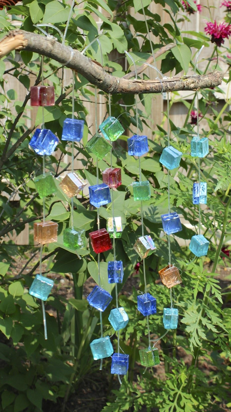 Glass Mosaic Wind Chime -Garden Decor with the Yard Art Ladies ...