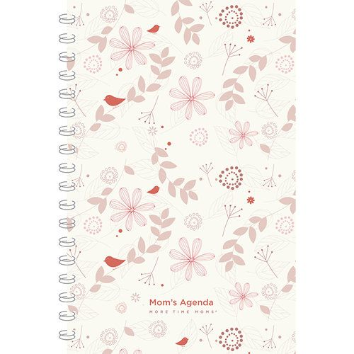 MomS Agenda Floral  Planner  Mom Agenda Family Schedule And