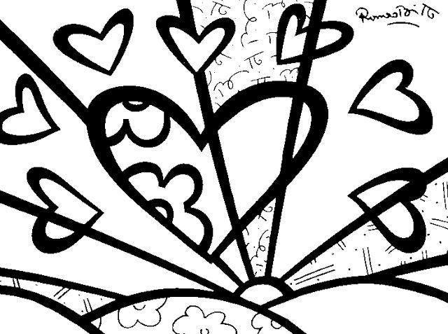 Desenhos Para Colorir Obras De Romero Britto Romero Brito