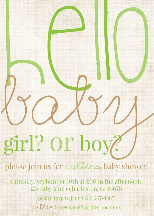 Gender Reveal Baby Shower, Neutral Baby Shower, Boy Or Girl Shower Invites  Via Party
