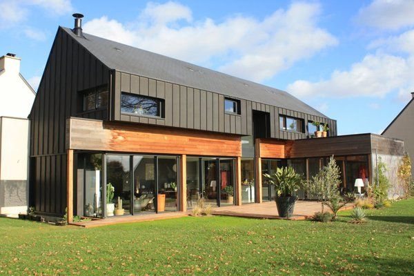 Une maison du0027architecte de construction mixte ossature bois et