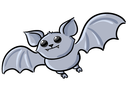 Bat cartoon. Bats clip art animals
