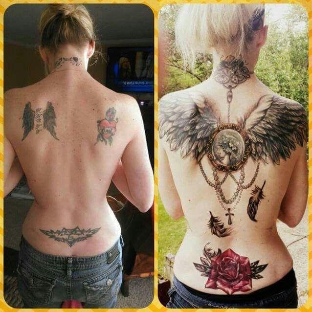 cheryl cole tattoos auf rucken