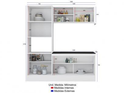 Kit Cozinha Multimoveis Linea Nicho Para Forno Micro Ondas 6