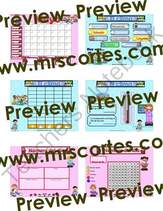 SMARTBOARD Calendar Math- Mayo (Spanish) from Mrs.Cortes ...