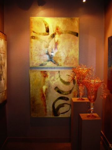 carib mix art.  Keep some modern, abstract art mixed in with the mahogany antique furniture pieces.