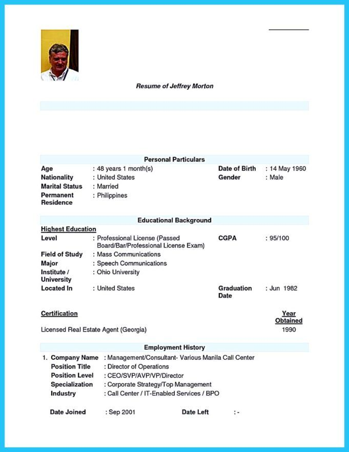 Call Center Sample Resume With No Experience Philippines Call Center Resume Sample Resume