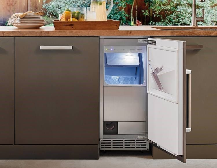 15 Outdoor Ice Maker With Pump Panel Ready With Images Ice Maker Sub Zero Stainless Steel Panels