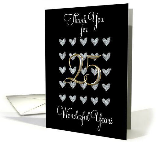 25th Wedding Anniversary Gift Ideas Your Husband: 25th Anniversary Thanks For Husband Card
