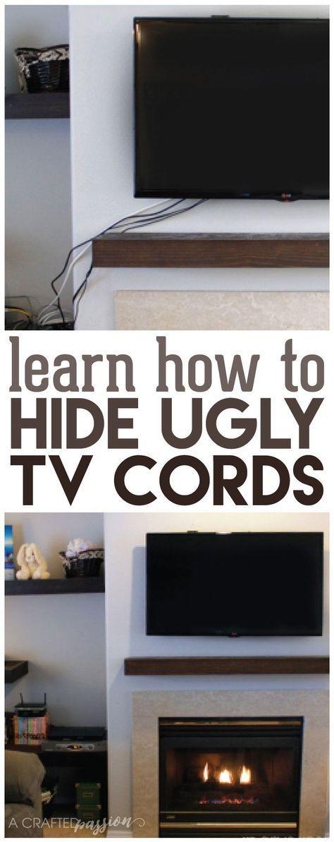 How to Hide TV Cords Once and For All!   Einrichten und Wohnen ...