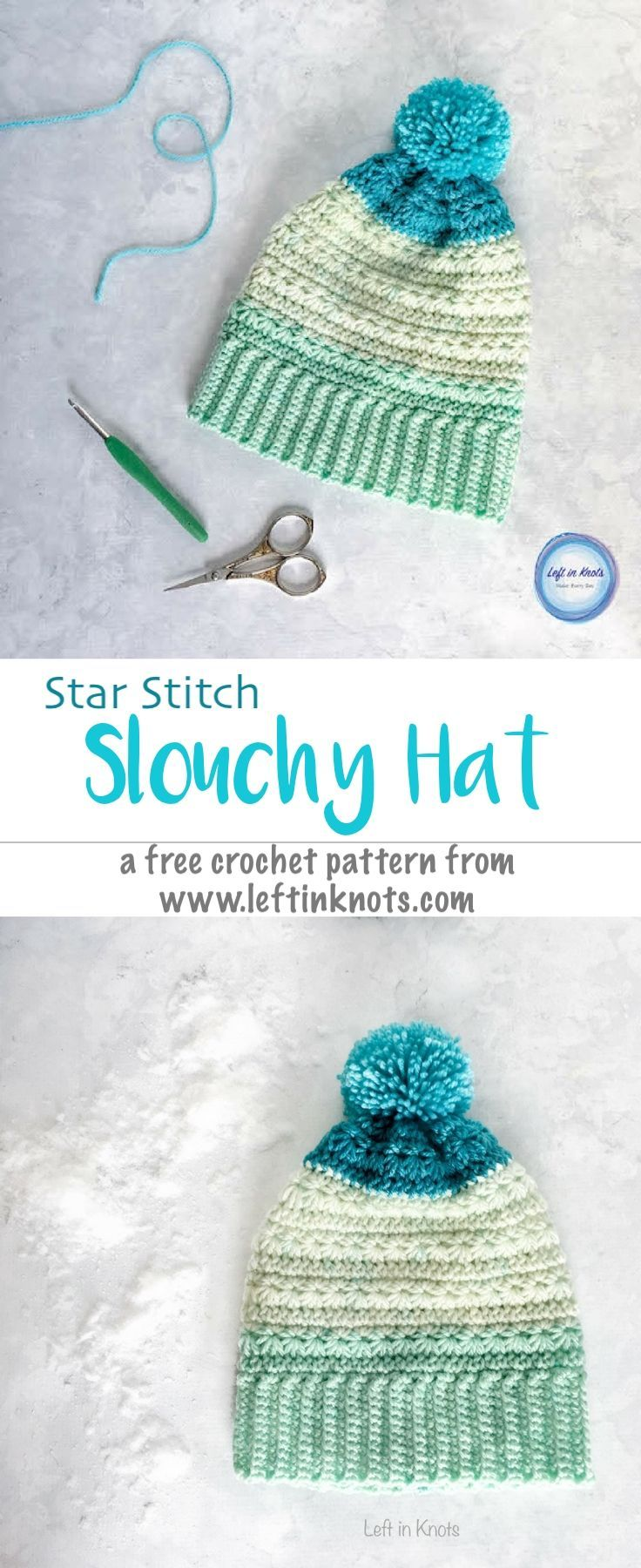 Snow Drops Slouch Hat Free Crochet Pattern | Pinterest | Gorros ...