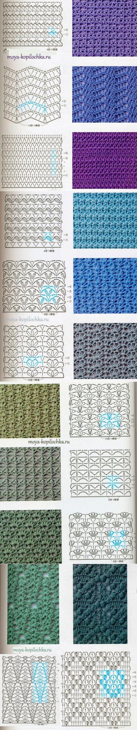 98 узоров и мотивов, связанных крючком ...♥ Deniz ♥ #crochetyarn