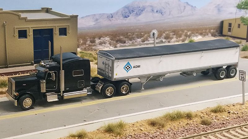 ADM Peterbilt 379 Truck Tractor & 43' Wilson Grain Trailer - By Bob