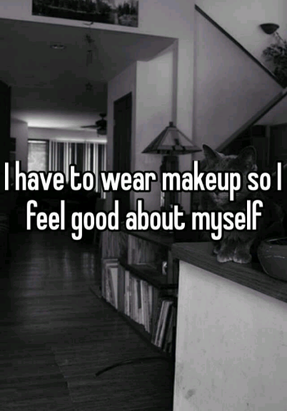 """I have to wear makeup so I feel good about myself."" Download free #WhisperApp for more from #UCLA."
