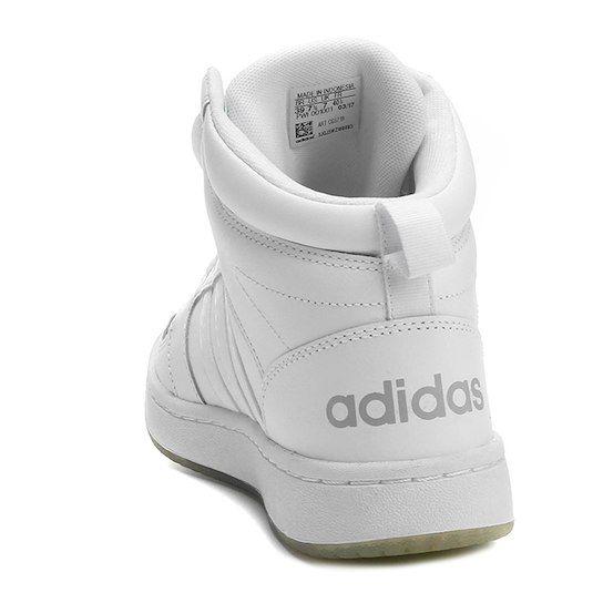 8b2e07f54ac Tênis Couro Cano Alto Adidas Cf Super Hoops Mid Masculino - Branco ...