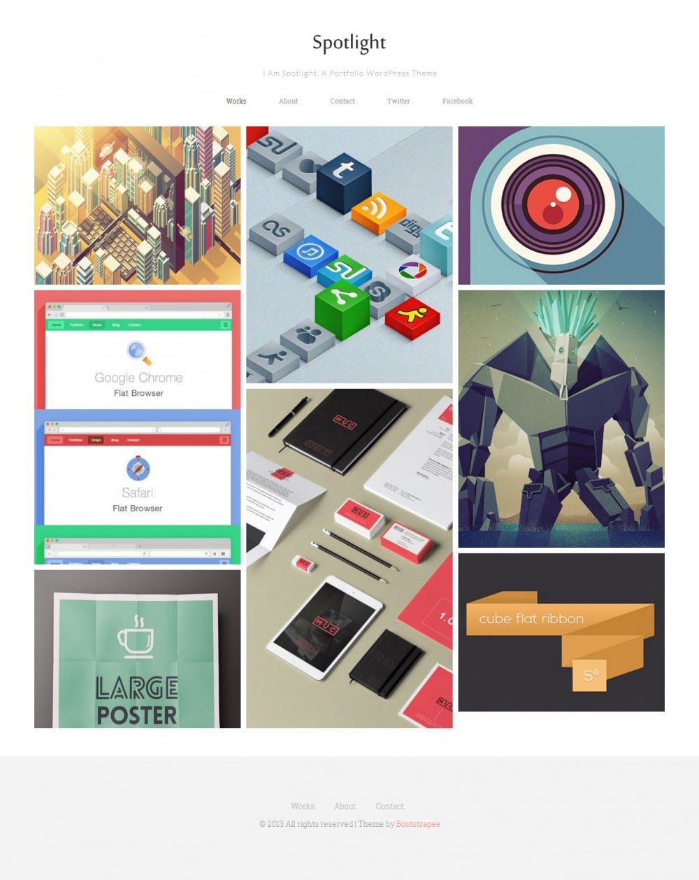 Spotlight - Free Portfolio WordPress Theme, #CSS, #CSS3, #Free ...