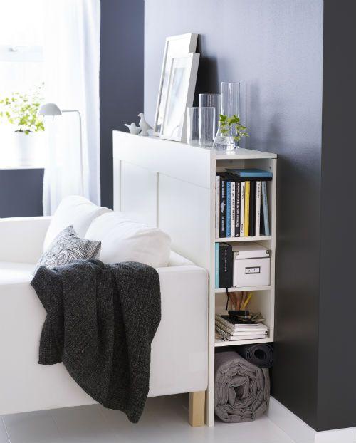 Brimnes Headboard With Storage Compartment White Small Space
