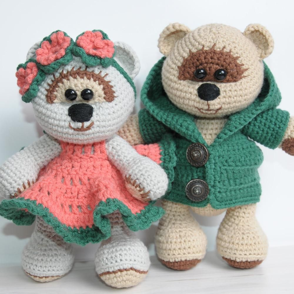 Honey teddy bears in love - printable PDF | Amigurumi Crochet & Toys ...