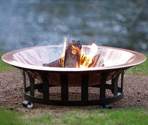Premium 40 Copper Fire Pit At Menards Fire Pit Decor Fire Pit Accessories Copper Fire Pit