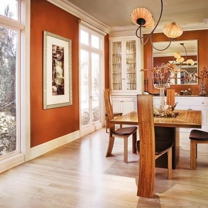 Rust Colored Walls Design, Pictures, Remodel, Decor And Ideas ~ LOVE The  Color For A Dining Room