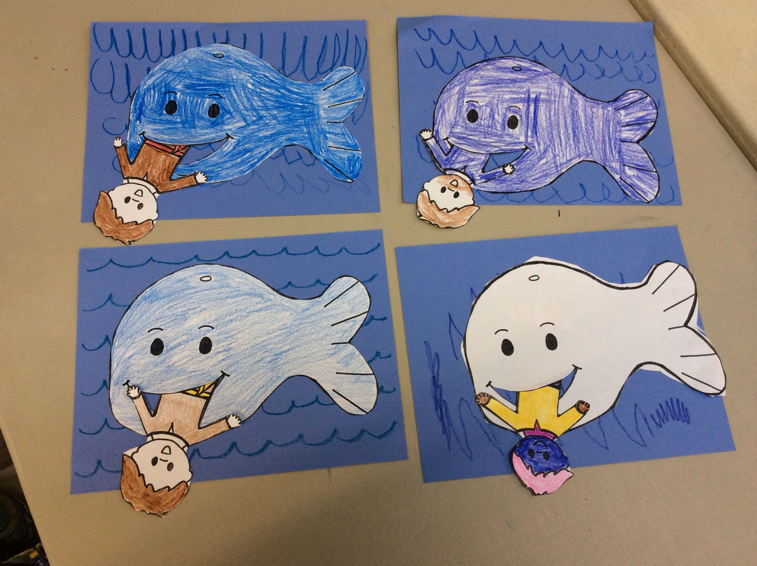 Jonah and the Whale craft. Easy and fun! | manualidades | Pinterest ...
