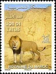 Le Lion De L Atlas : atlas, Postes, Maroc,, L'Atlas., Stamp,, Lion,, Postal, Stamps