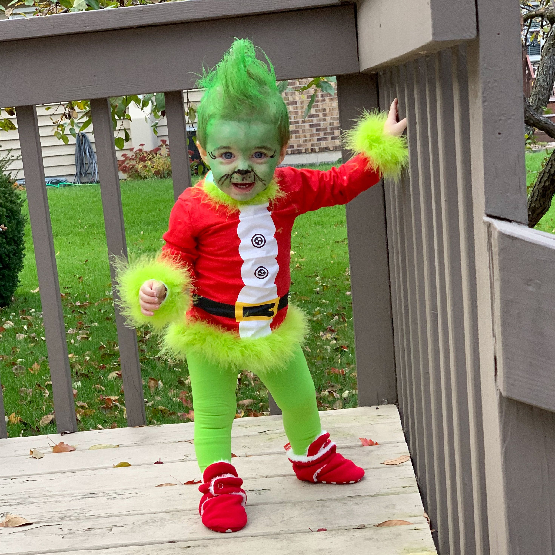 The grinch baby costume 💚 halloween halloweencostume