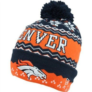 c55daacd Amazon.com: Denver Broncos Beanie with Pom Snowflake New Era: Sports ...