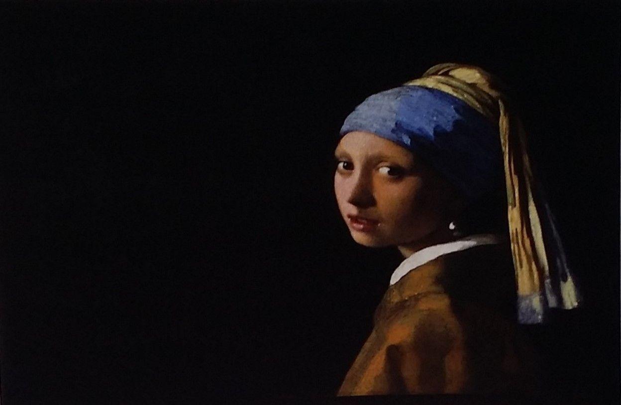 Doek op frame Meisje met de parel. Afmeting 75 x 115