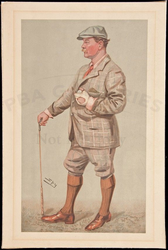proof copy of vanity fair spy print of golfer lot 298