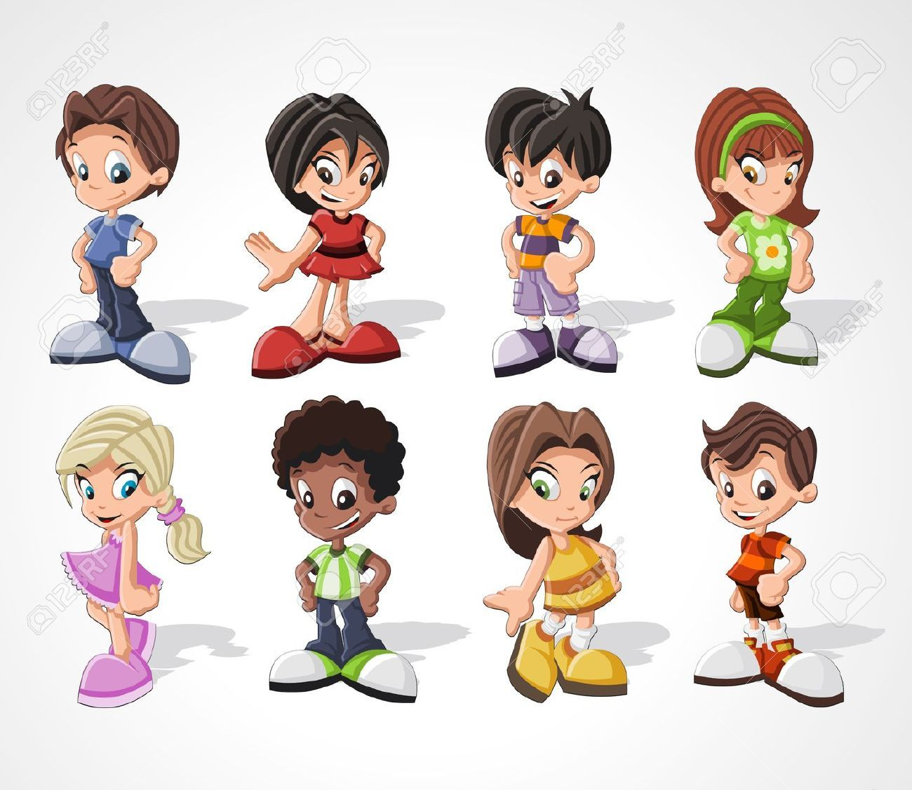 Cartoon boys standing on toes google search children
