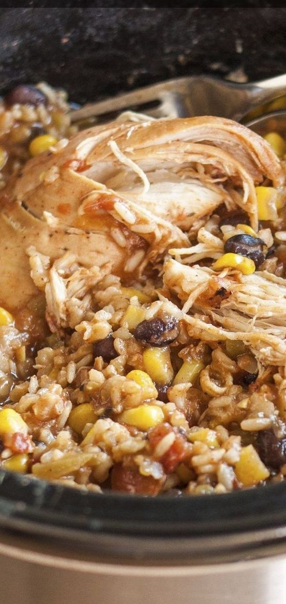 Slow Cooker Chicken Burrito Bowls images
