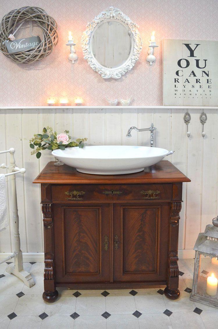 Burleigh Antiker Waschtisch Von Badmobel Landhaus Land Und Liebe Waschtisch Badezimmer Einrichtung Badezimmer Farbideen