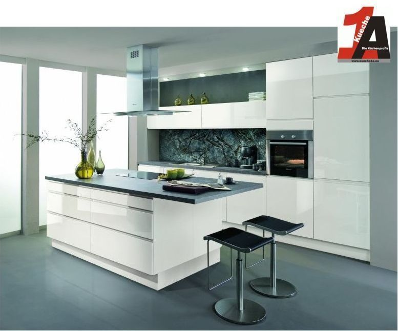 Details zu Altano KÜCHE grifflos Avior HG weiss Musterküche mit - komplett küchen ikea