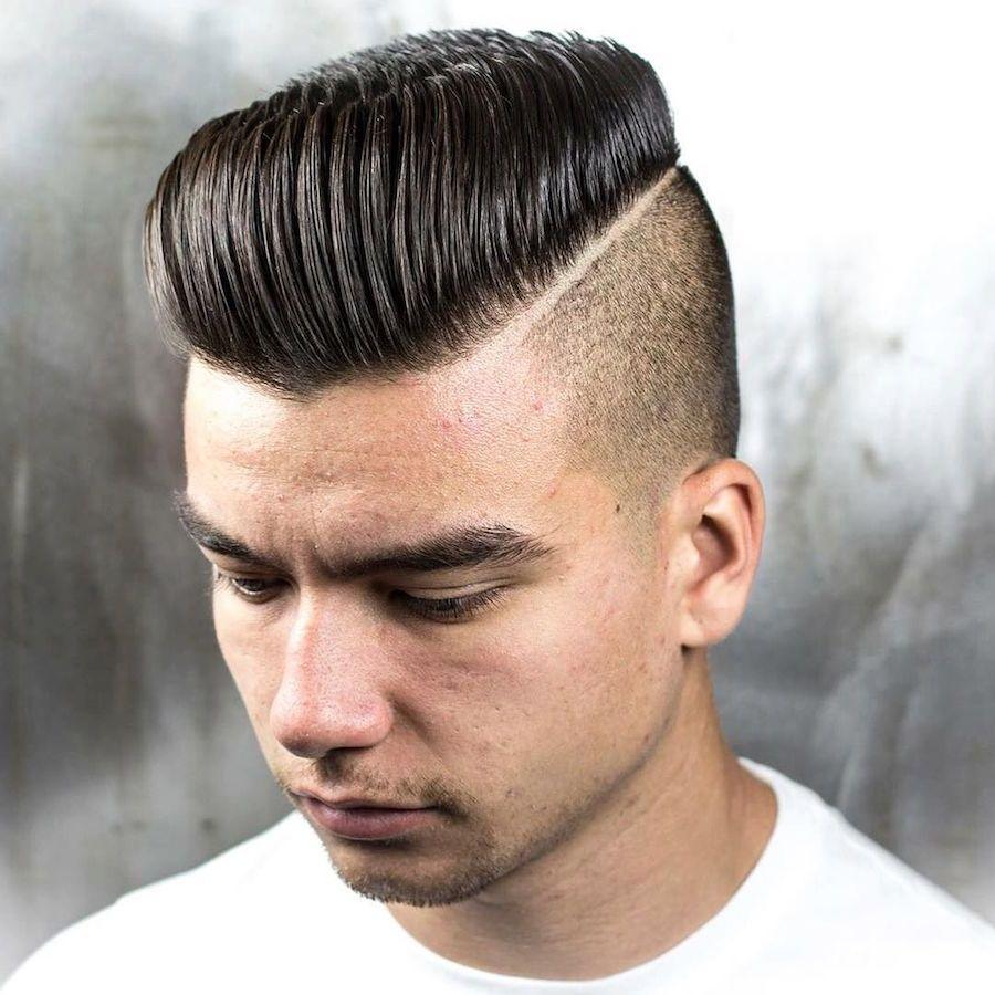 Haircuts for thin hair men braid barbers uk  menus hairstyles  pinterest  pompadour