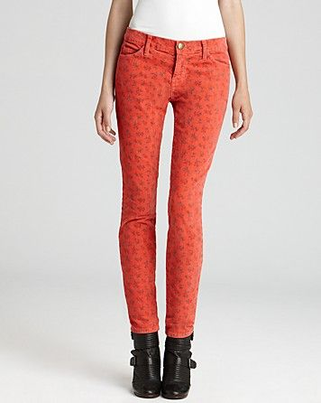 d2bfdc8551 Current Elliott Corduroy Jeans - The Ankle Skinny in Poppy Ditsy ...