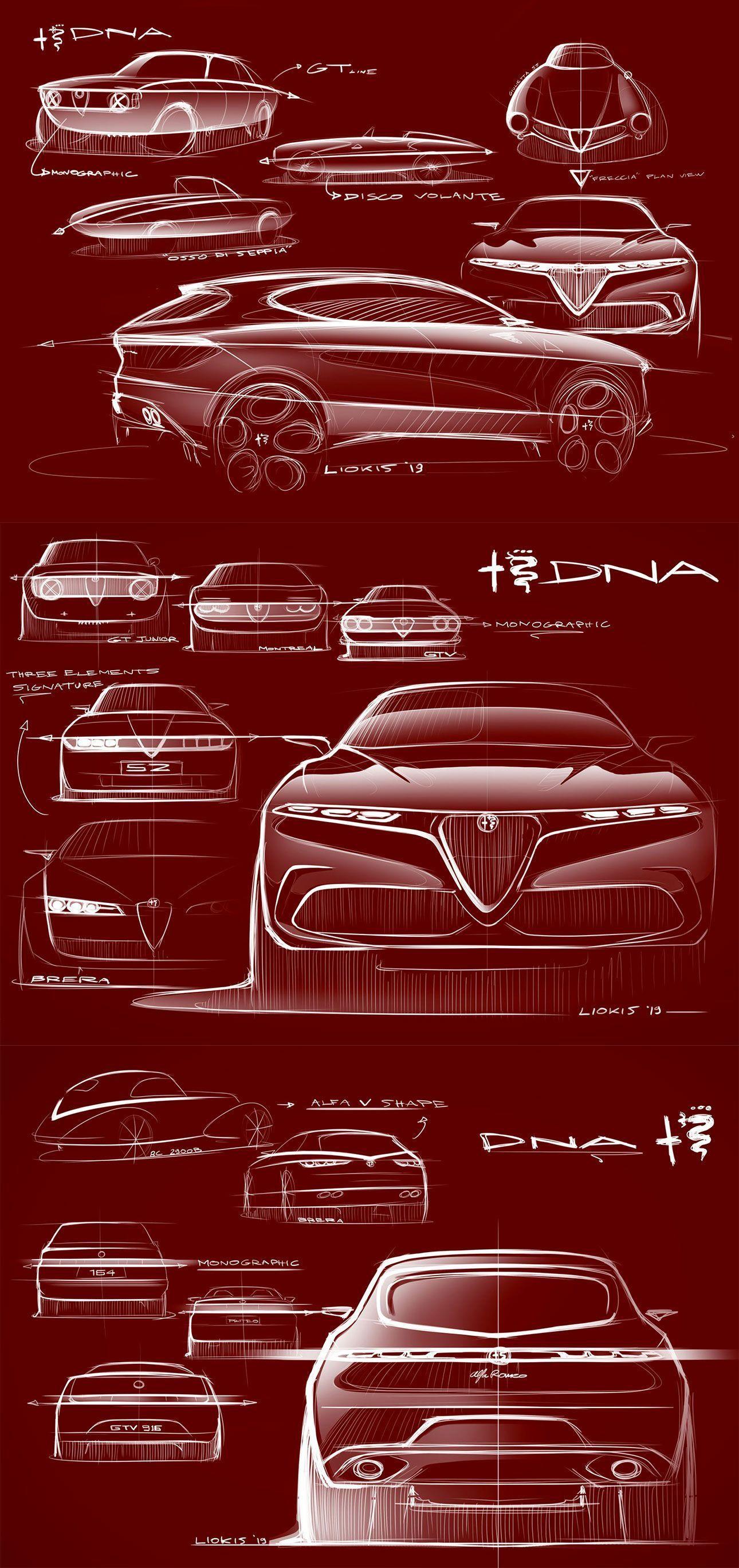 Alfa Romeo Tonale Concept: design sketches by Senior Exterior Designer Alexandros Liokis  #AlfaRomeo #SUV #Design #conceptcar #cardesign #conceptcars #futuristiccars #design #futuristic #autodesign #automotive #car #automotivedesign #cargram #sketch #designsketch #carsketch #cardesignsketch #industrialdesignsketch #cardesignworld #cardesignercommunity #cardesignpro #carbodydesign #carrendering