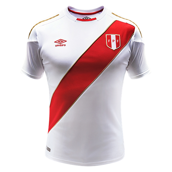 Peru 2018 Home Jersey From Umbro Pre Order Now For March 2018 Delivery And Get Set For Fifa World Cup Russia 201 World Soccer Shop Soccer Jersey Peru Football