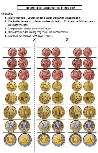 Spielgeld und Rechengeld zum Drucken und Ausschneiden | Mathe ...