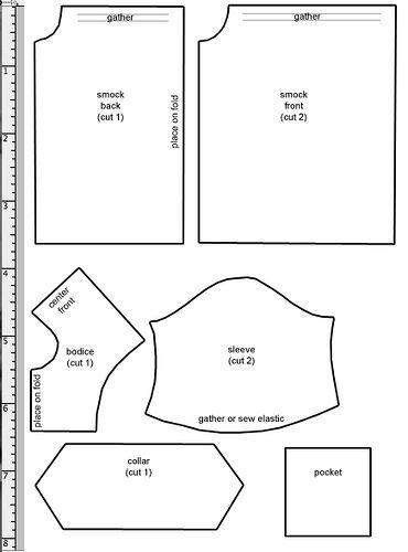 Smock Pattern Projekty Do Wypr 243 Bowania Sewing Doll