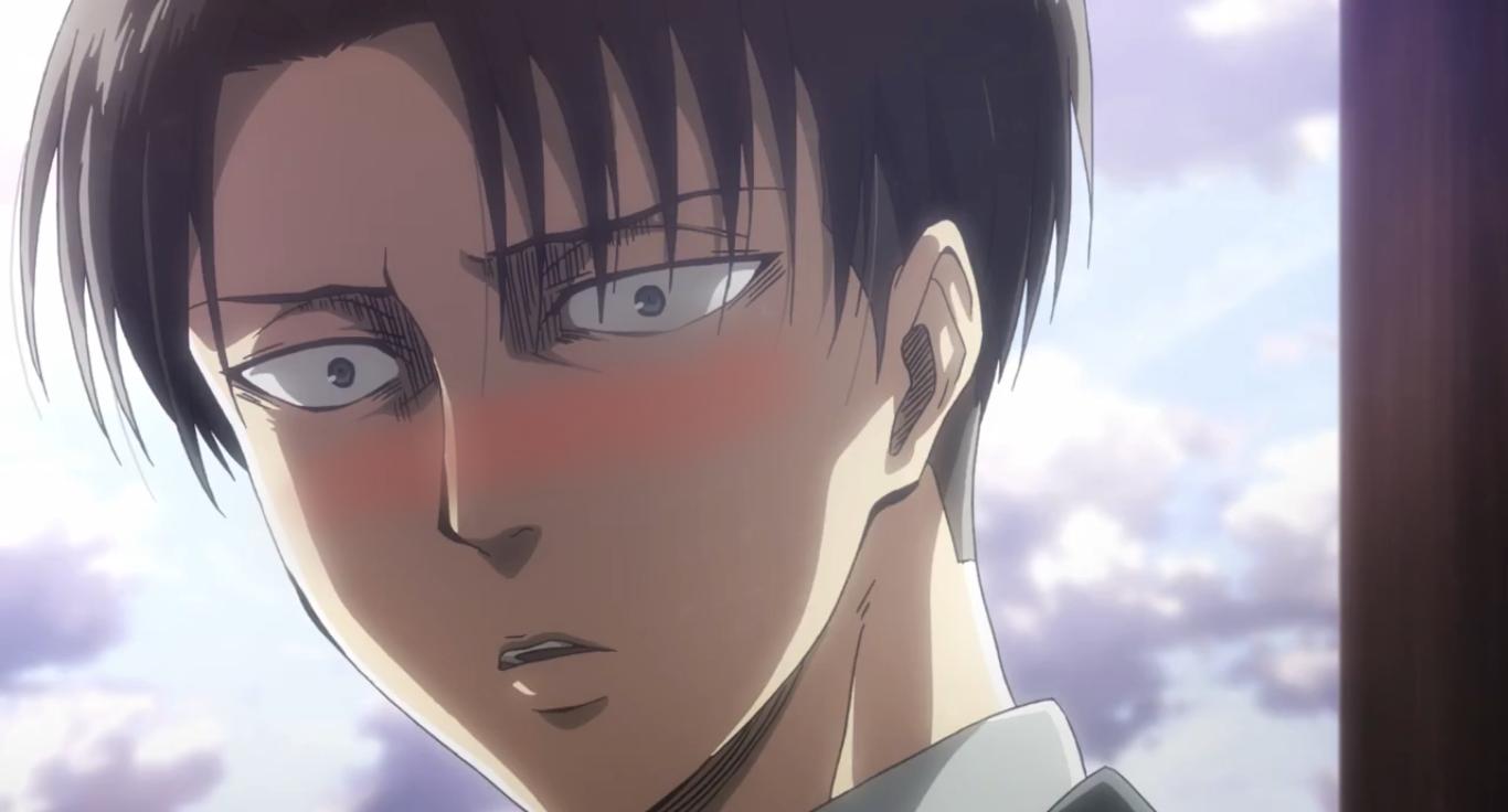 Blushing Attack On Titan Levi Attack On Titan Attack On Titan Anime