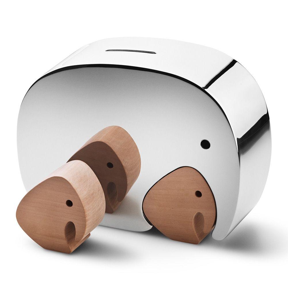 Moneyphant with twins from Georg Jensen. Design by Jørgen Møller & Alfredo Häberli. #design