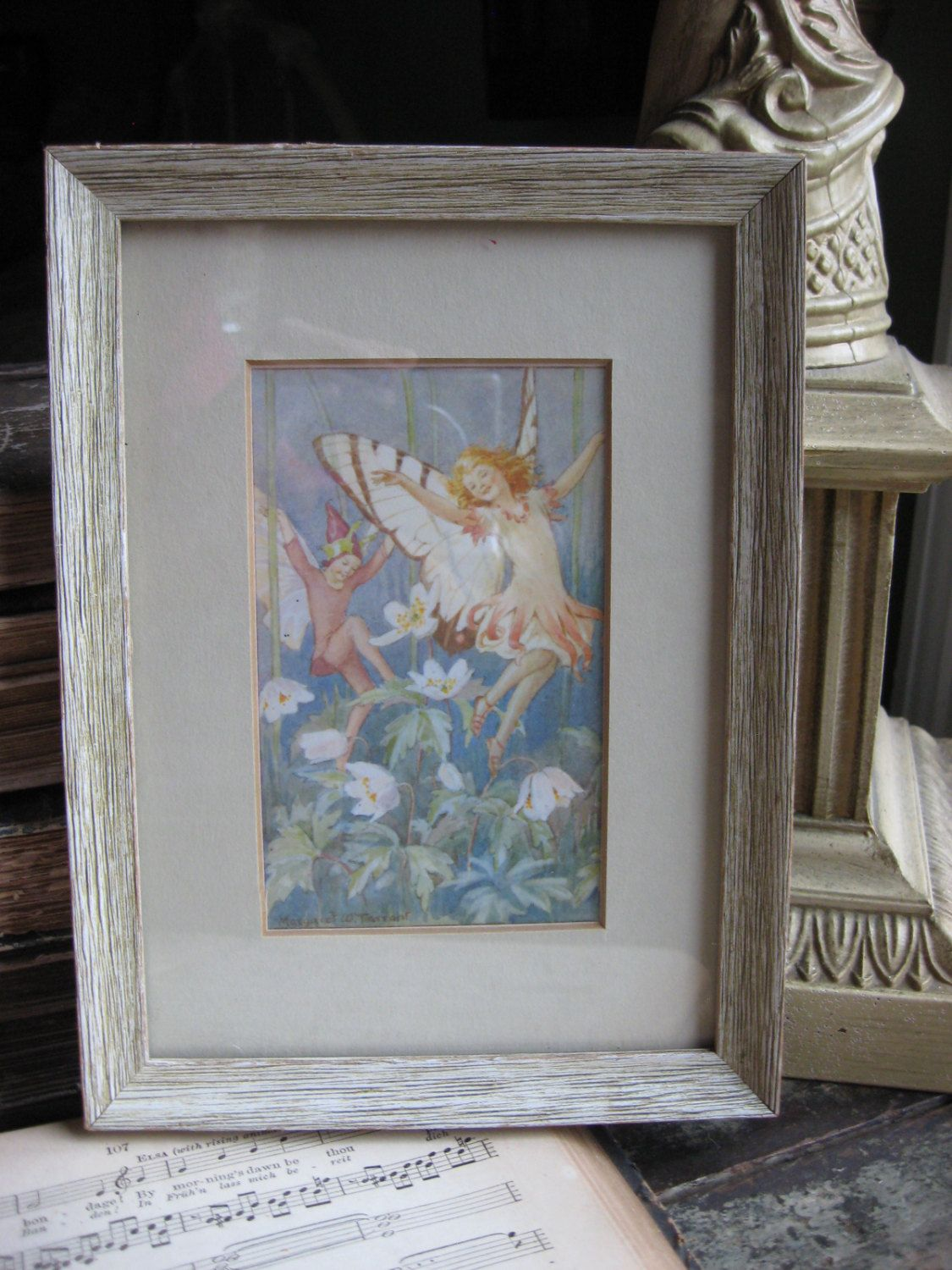 Enchanting Fairy Framed Print Maraget Tarrant The Wood Anemone Fairies Medici Fairies of the Countryside by GoodCharmVintage on Etsy