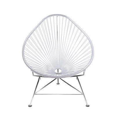 Innit Acapulco Papasan Chair Frame Finish: Chrome, Weave Color ...