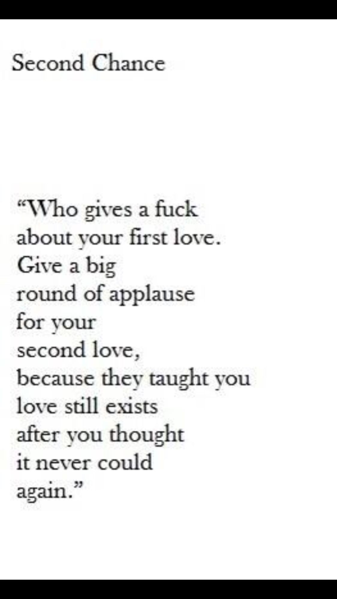 That is why you should not give him a second chance
