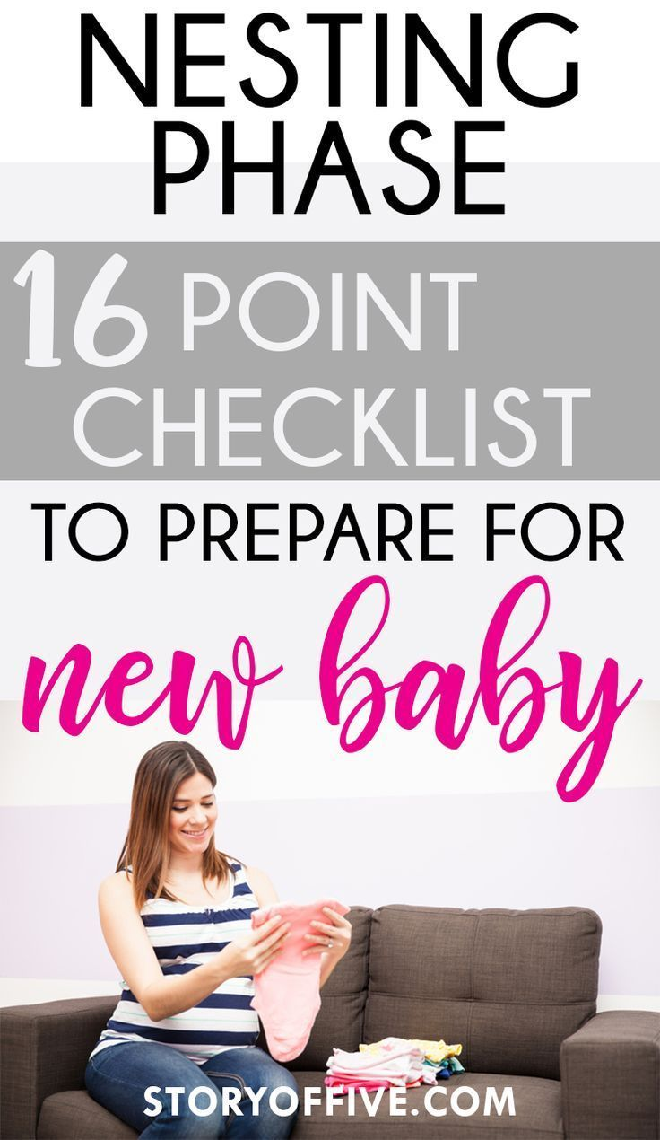 Nesting Checklist: 16 Point Checklist to Prepare For New Baby - The Story of Five