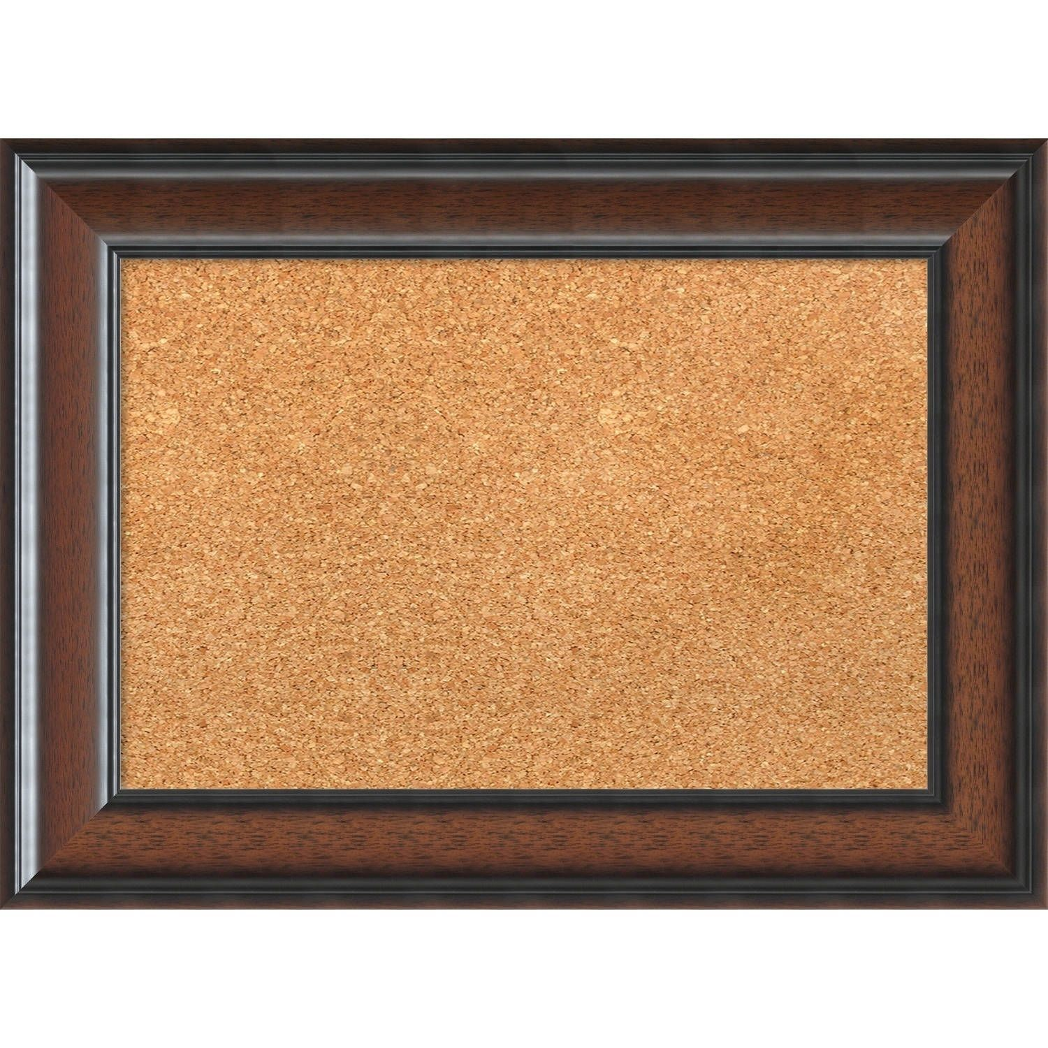 Amanti Art Framed Cork Board Cyprus Walnut Small 23 X 17 Inch